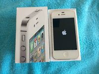 iphone 4s 16gb, white, unlocked, boxed & in excellent mark free condition.