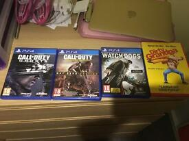 **PS4 GAMES COD/WATCH DOGS & BRAND NEW DVD**