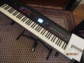 Roland RD800 keyboard. As new in Mint condition with sustain pedal, Owners Manual and Mains lead.