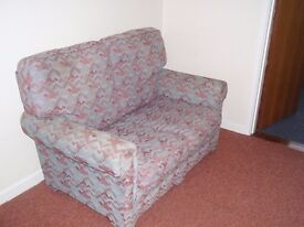 Two Seat Sofa, comfortable firm seating, 1.4m long, in good condition