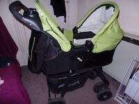 Great deal: Pram, baby bath, bather chair, play mat, baby carrier.