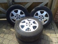 VAUXHALL ASTRA H ZAFIRA B VECTRA C 16` ALLOY WHEELS 205/55/16 TYRES