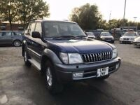 2002 Toyota Land Cruiser Colorado 3.0 D-4D VX 5dr (8 Seat) FULL LEATHER +AUTO+SUNROOF
