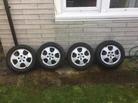 Vauxhall Astra G alloys and tyres 195/60/15