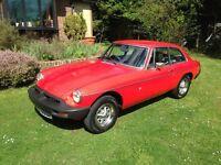 MGB GT 1975 restored tax free