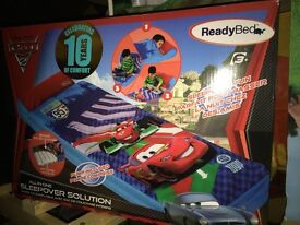 Disney cars 2 - ready bed including pump brand new in box