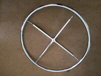 "Circular Chrome Clothes Rail only - 33"" NEW"