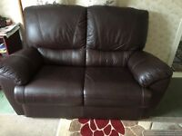 2, 1, 1 BROWN LEATHER SUITE