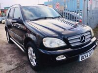 MERCEDES ML 270 2.7 CDI DIESEL AUTOMATIC SPECIAL EDITION BLACK 2004 HALF LEATHER PARKING SENSORS