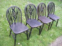 4 WHEEL BACK CHAIRS