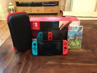 Nintendo Switch Neon + Zelda BoTW + Gioteck Carry Case
