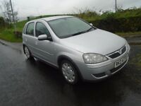 06 vauxhall corsa 1.2 petrol twinport design siver 5 dr laddy owner low ins & tax