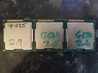 10x CPU Processors Job Lot 9x Intel 1x AMD All Perfect Working Order