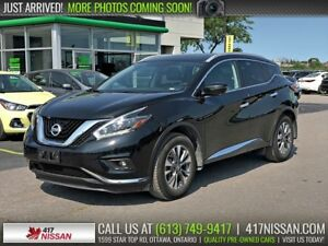 2018 Nissan Murano SL AWD | Navi, Pano Moonroof, Leather Htd Sea