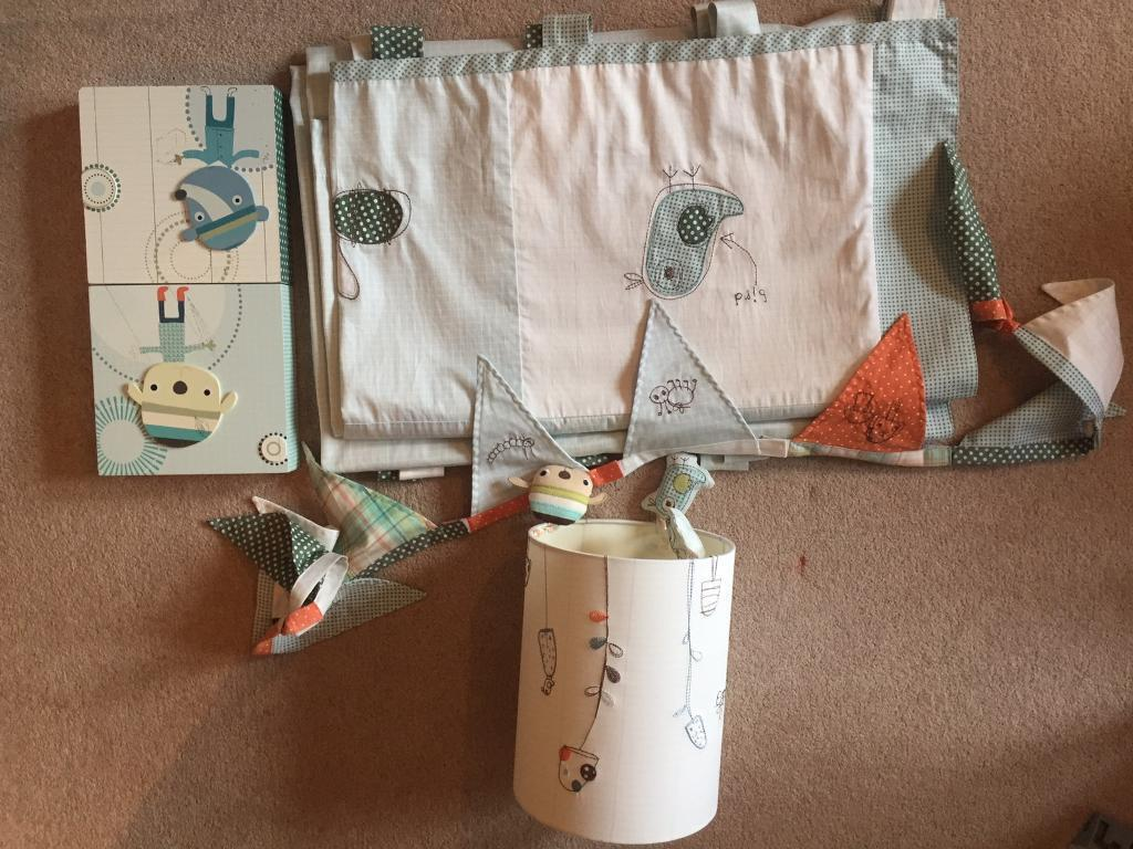 Curtains , lampshade, bunting, pictures , Mamas & Papas