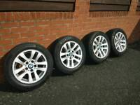 BMW alloys 3 series with 205/55/16 Continental Tyres