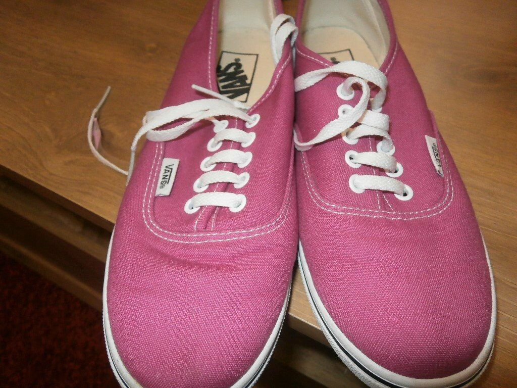 ladies Vans size 4 pink