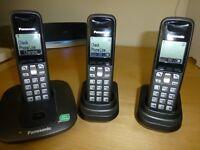Panasonic Expandable Digital Cordless 3 Phones KX-TG6413ET