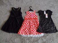 GIRLS DRESSES AGE 3 - 4 YEARS x 3