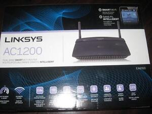 Linksys Smart Wireless AC 1200 Dual Band Router / Modem (EA6100). NEW