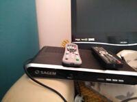 "Bush 19"" TV DVD + Freeview recorder."