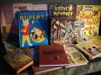 Childrens Books - 16 Collectable and Many Rare Books including 3 New Condition Rupert Annuals