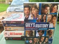 greys anatomy series 1,2,5,6,7 and 8 also Brothers and Sisters the complete third season