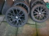 19 inch alloy wheels 3sdm reps 5x114 but come with bolts and lockers to fit 5x112 vw audi seat