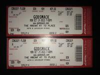 Pair of Godsmack tickets - General admission