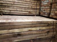 🌟 X60 Pressure Treated Railway Sleepers 200mm x 100mm x2400mm