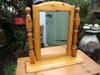 Solid Pine Dressing Table Mirror.