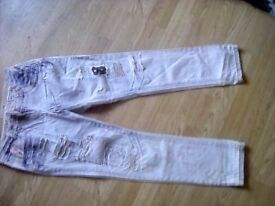Soulcal & co distressed patch jeans size 14