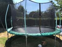 14ft trampoline with enclosure in excellent condition