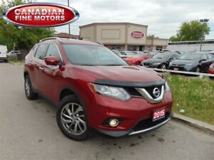 2015 Nissan Rogue AWD-NAVI-LEATHER ROOF