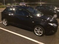 2009 SEAT IBIZA 1.4 SPORT 3 DOOR BLACK 123K WITH F/S/H LONG MOT CAMBELT CHANGED @90K IN V/G/C