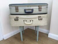 Vintage table made of suitcases