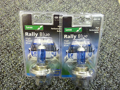 Lucas H4472 2x Terminal 12v100w High Power Rally Blue Long Range Bulbs