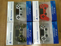 PS4 Dualshock Sony Official Limited Edition Green Camo, White & Red V2 Controller