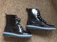 Ladies Kickers black boots vgc size euro 38 / 5