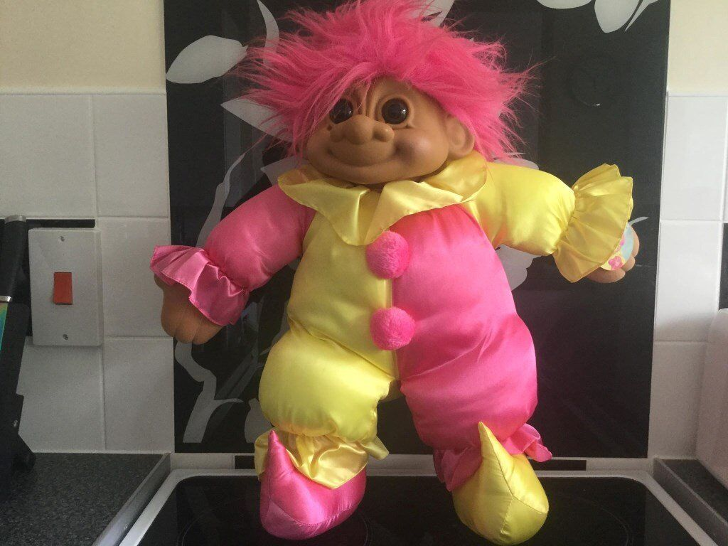 VINTAGE JUMBO CLOWN TROLL / DOLL RUSS - rare with tag
