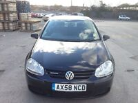 VOLKSWAGEN GOLF 1.9 TDI BlueMotion Tech S,HPI CLEAR,1 OWNER,FULL S/H CAMBELT CHANGE,£30 ROAD TAX,A/C