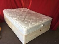 DOUBLE DIVAN BED WITH 4 DRAWS AND MATTRESS,CAN DELIVER