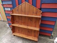 Large pine hanging shelf unit