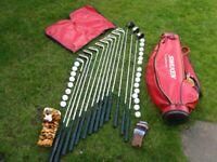 Golf Clubs, Bag, Balls & Tees