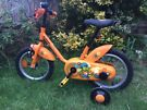"""Btwin child's bike with 14"""" wheels, for ages 3-5"""