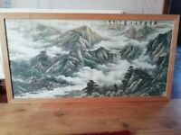 Epic Chinese rice paper pictures with frames 1.5m by 500cm