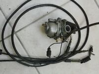 FORMULA R50 CARBURETOR AND LINKAGE