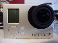 like new Gopro 3+ silver loads accessories