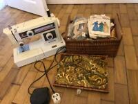 Sewing Machine & Vintage Sewing Box