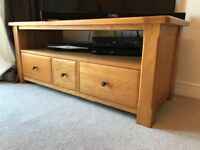 Oak tv cabinet good condition